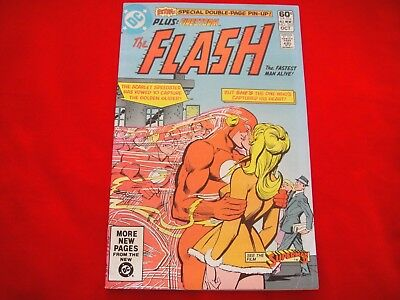 The Flash #302 ~Oct 1981~Dc Comics~Golden Glider~Centre Spread By Infantino~Fire