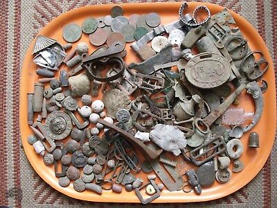 Military and other metal detector/detecting finds including silver.