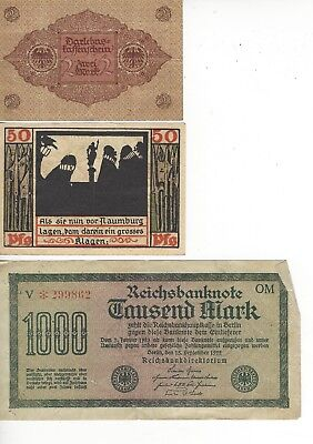 Misc paper Money From WW2- 3 Different