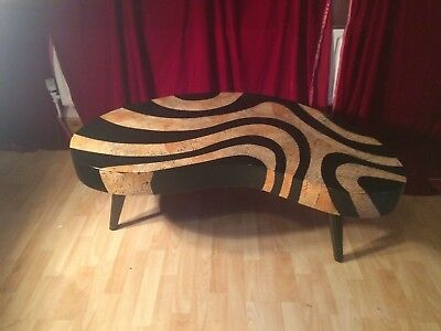 AMAZING vintage 50s 60s kidney shaped table Large Mid century, Eames Space age