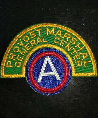 WWII US 3rd Army MP Military Police Provost Marshall Patch Tab Set