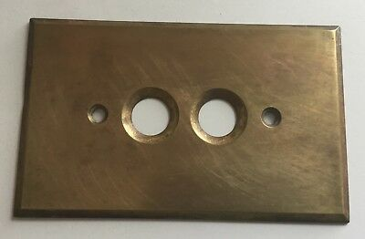 Vintage Brass Push Button Light Switch Plate Cover