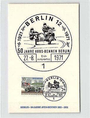 BERLIN MK 1971 AVUS-RENNEN MOTORSPORT MAXIMUMKARTE CARTE MAXIMUM CARD MC d9722