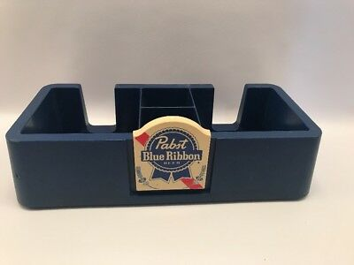 Vintage '87 Pabst Blue Ribbon Beer Napkin Condiment Bar Organizer Caddy RARE