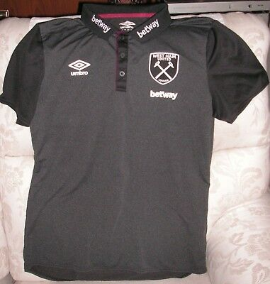 West Ham United charcoal polo shirt.