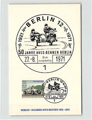 BERLIN MK 1971 AVUS-RENNEN MOTORSPORT MAXIMUMKARTE CARTE MAXIMUM CARD MC d9723