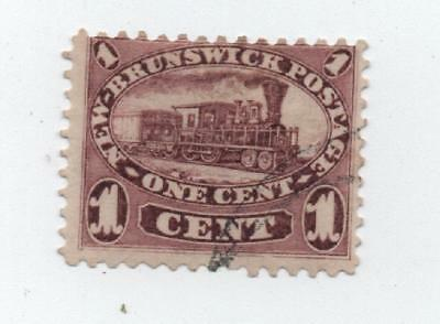 New Brunswick brown 1c Railroad.