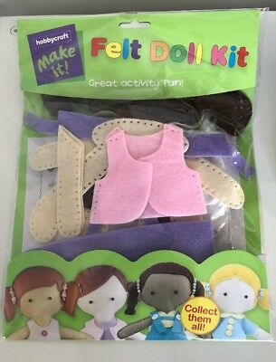 Hobbycraft Felt Doll Kit Make Sew it Yourself Age 8+