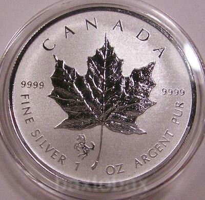 2014 *HORSE PRIVY* CANADA MAPLE LEAF 1 oz. SILVER REVERSE PROOF $5 COIN
