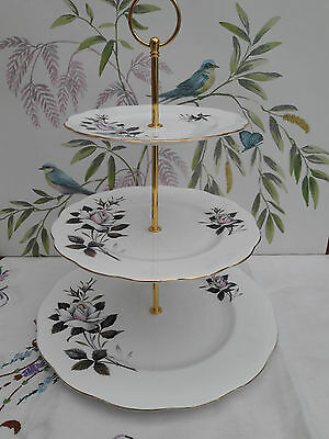 "Royal Albert ""Queens Messenger"" Extra Large size 3-tier cake stand"