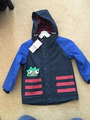 Brand New With Tags Boys Next Shower Resistant Coat Size 2-3 Years