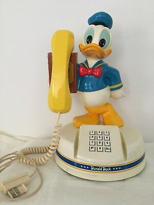 Vintage téléphone Donald Duck Kanda Comoc  Walt Disney Production ( Ami Mickey )