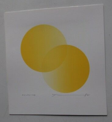 Michio TAKEHARA abstract LITHO OP ART vintage pop orig 1984 signed Meissner