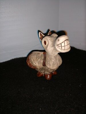 MB (Uruguay) Donkey/Mule/Horse figurine with a toothy smile.