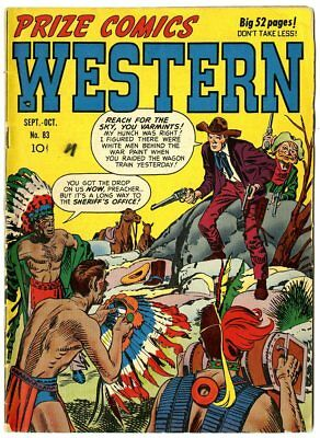 Prize Comics Western #83 VG+ 4.5 off-white pages  Prize  1950  No Reserve