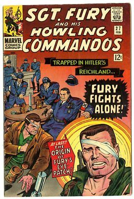 Sgt. Fury #27 VG/FN 5.0 white pages  Herman Goehring-c  Marvel  1966  No Reserve