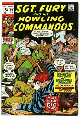 Sgt. Fury #83 VF 8.0 white pages  Marvel  1971  No Reserve