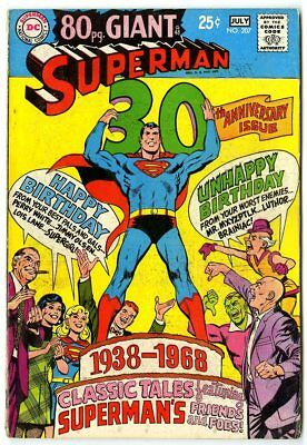 Superman #207 VG+ 4.5 ow/white pages  80 Page Giant  DC  1968  No Reserve