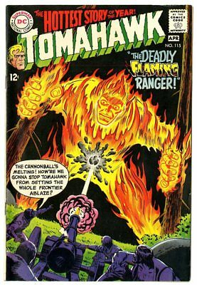 Tomahawk #115 VF+ 8.5 ow/white pages  DC  1968  No Reserve