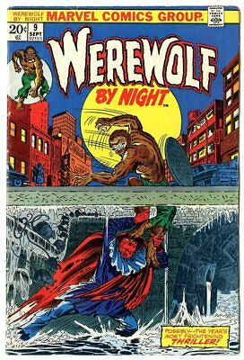 Werewolf by Night #9 FN+ 6.5 white pages  Marvel  1973  No Reserve
