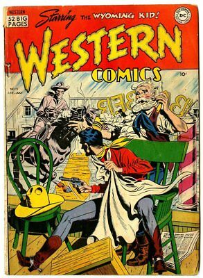 Western Comics #15 G/VG 3.0 off-white pages  Wyoming Kid  DC  1950  No Reserve