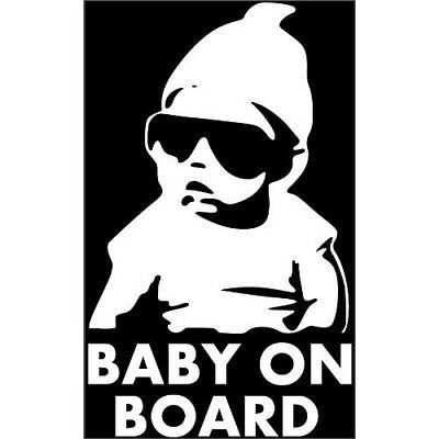 Baby On Board Cool fun Car van Vinyl Window Sticker Decal Sign Safety