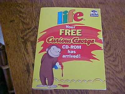 Vintage Quaker Lfe Curious George CD-Rom Video Game Demo Activities coloring etc