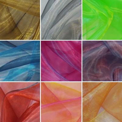 Two Tone Satin Sheer Organza Voile Curtain Wedding Fabric 2