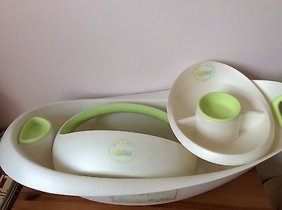 Humprey's Corner Bath Set-Bath,top&tail Bowl,bath Caddy-Used-Cost£60-Free Postag