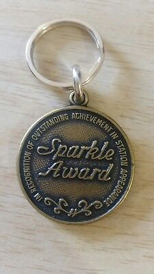 Sohio Sparkle Award Key Chain Brass