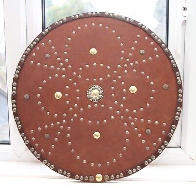 Viking Medieval Scottish Shield with leather studs design cost £110
