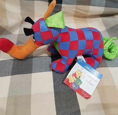 Disney Store Winnie The Pooh Red Blue Woozle Plush  Soft Toy Large New Nwt