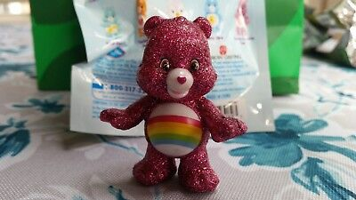 Care Bear and Cousins Collectible Figure RARE Glitter Cheer Bear