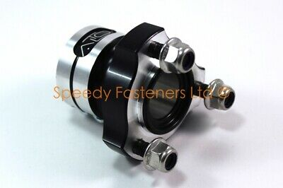 Black Alto 25mm Rear Hub x 60mm Long Twin Bolt Honda IAME Cadet Bambino Kart New