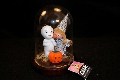 Casper the Friendly Ghost w-Pumpkin Porcelain Statue-1986 Gift Collection
