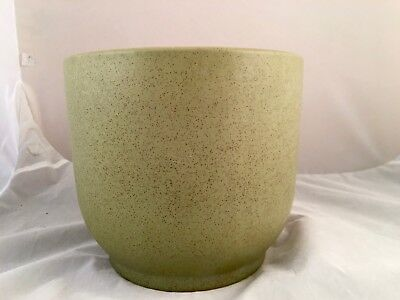 Mid-Century Planter Pot Gainey Olive Green Medium Vintage Architectural Pottery