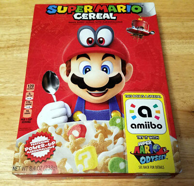 Super Mario Odyssey Cereal Limited Edition Nintendo Fast Priority Free Shipping