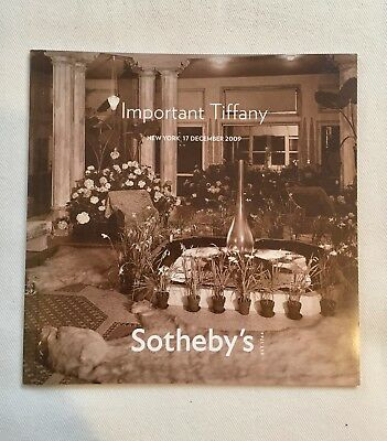 Sotheby's Auction Catalog: Important Tiffany Lamps collectors stained glass