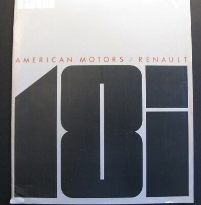 1981 Renault 18i Brochure from American Motors