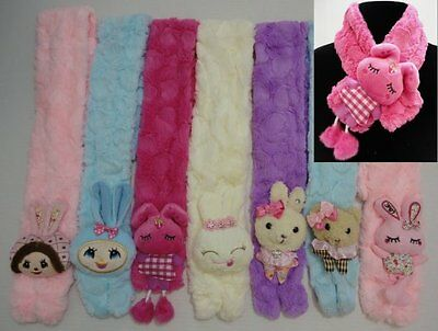 Wholesale Lot (6) Childs Super Soft Character Scarves New w/Tags!