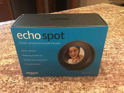 Amazon Echo Spot Smart Assistant - Black
