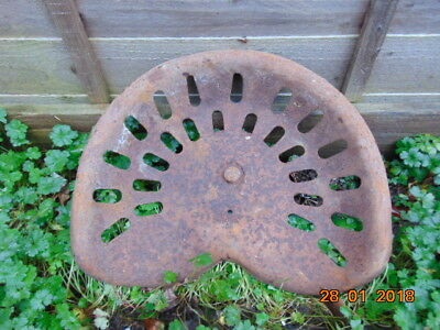 """vintage metal tractor seat 18"""" x 14"""" and 4"""" high"""