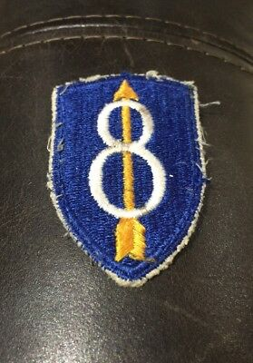 21014z Original US ARMY 8th Infantry Division Patch / Veterans Estate