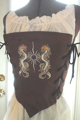 Bodice Chocolate Brown Cotton Double Dragon 31