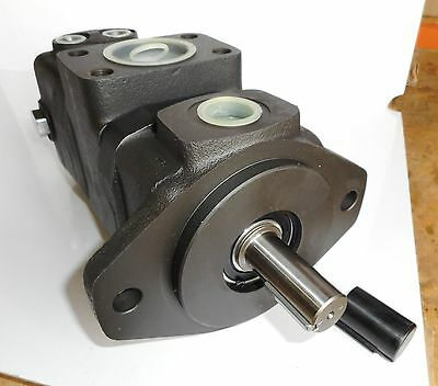 Double Vane Pump with Priority Flow & Relief Valve, 2 Bolt SAE B Mount