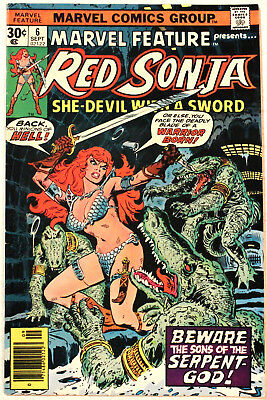 MARVEL FEATURE #6, solo Red Sonja and Conan, MARVEL, original owner, HIGH GRADE