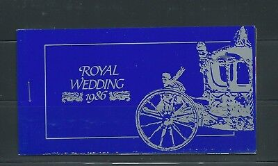 St. Vincent 1986 Royal Wedding booklet #959a, stamps imperforate inside