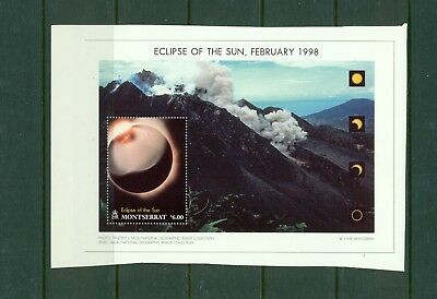 Montserrat 1998 Eclipse s/s #961 imperf proof on thick paper - scarce