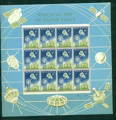 Nigeria #143-44 1963 Space issue in mini-sheets of 12 CV $6.60++