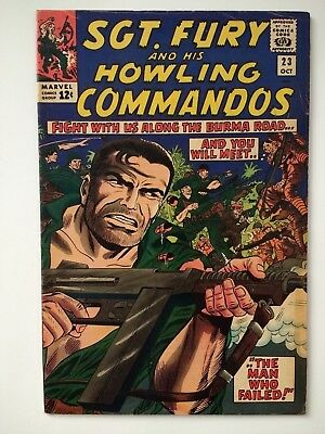 Sgt. Fury and His Howling Commandos, #23, Silver Age Comic! Beautiful!